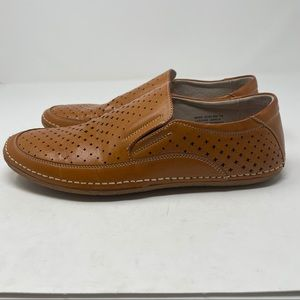 Stacy Adams Leather Slip On's Flats Tan Brown 7